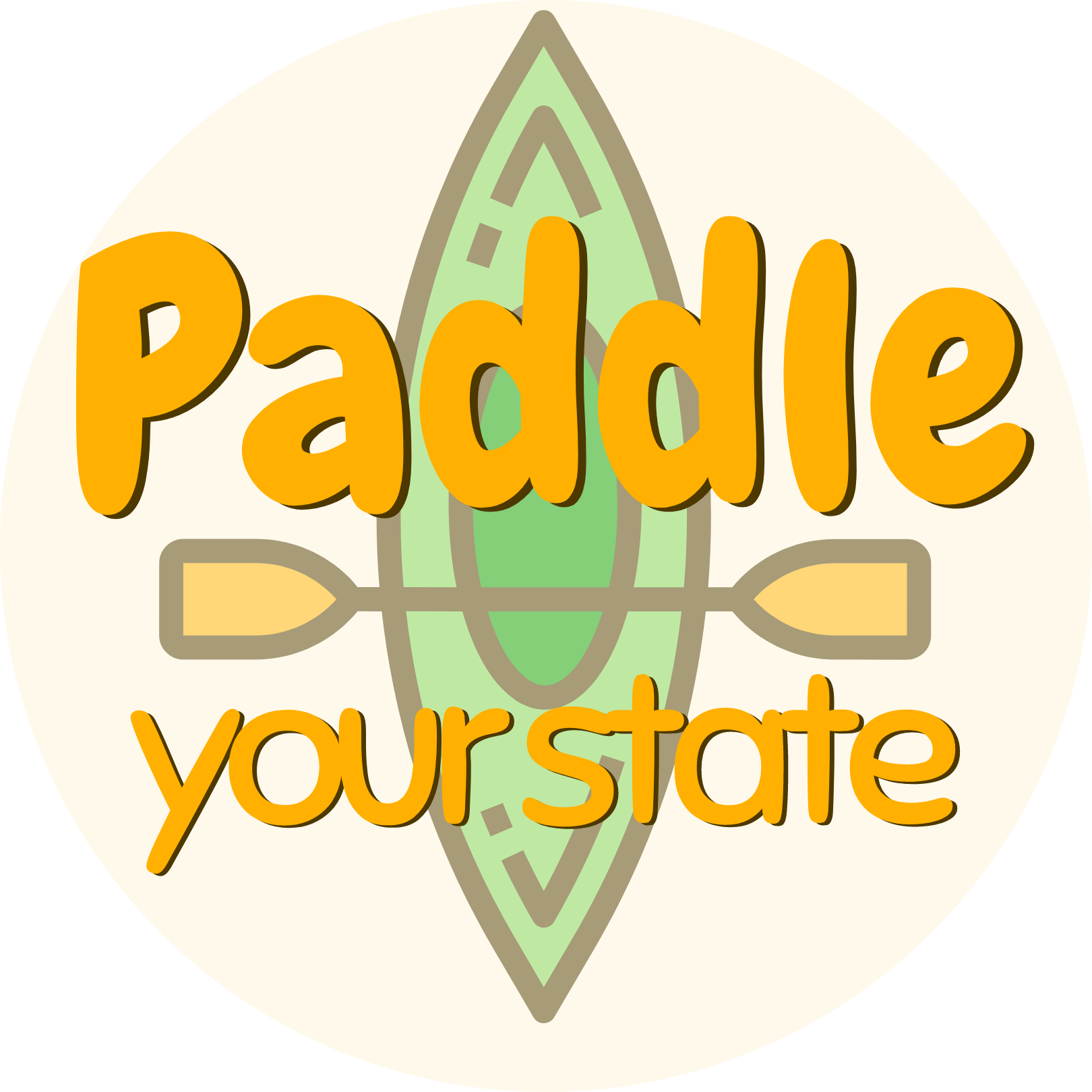 Paddle Your State Logo Square