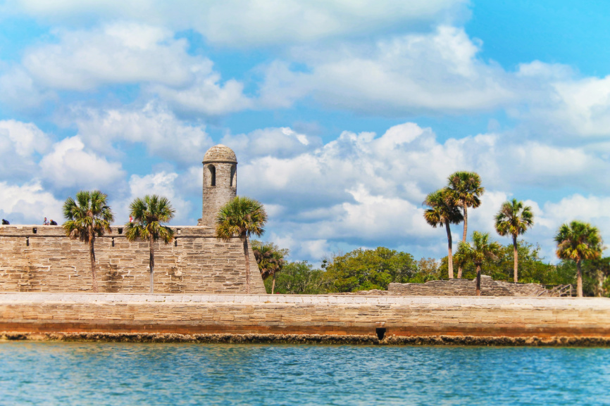 Castillo de San Marcos St Augustine from water 4