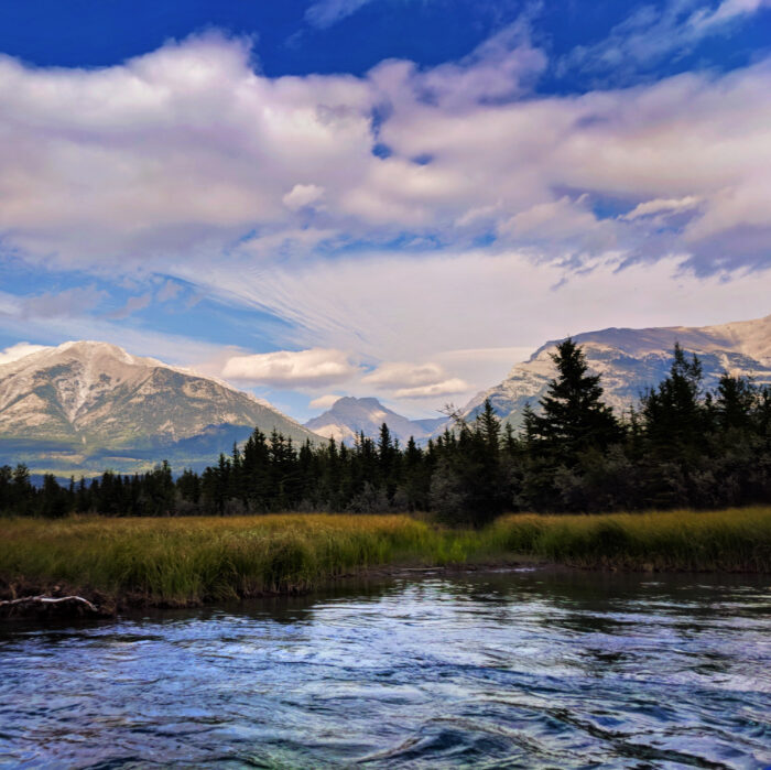 Canadian Rockies From Bow River Canmore Raft Tours Alberta 1