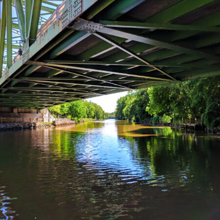 View from River Cruise boat on Erie Canal Rochester New York 1